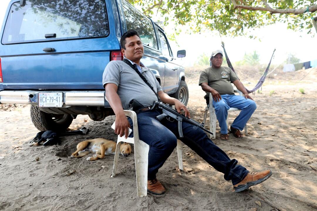Vigilante group leaders in Barra Vieja, Acapulco