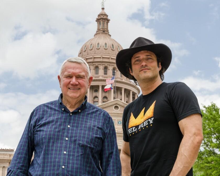 Austin Mayor Lee Leffingwell and Robert Rodriguez