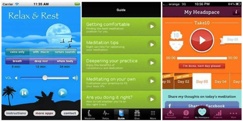 Meditation apps let the peace flow through the phone