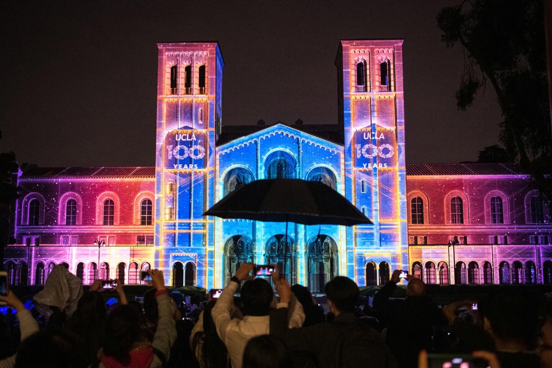 Light show at Royce Hall kicks off UCLA's centennial celebration
