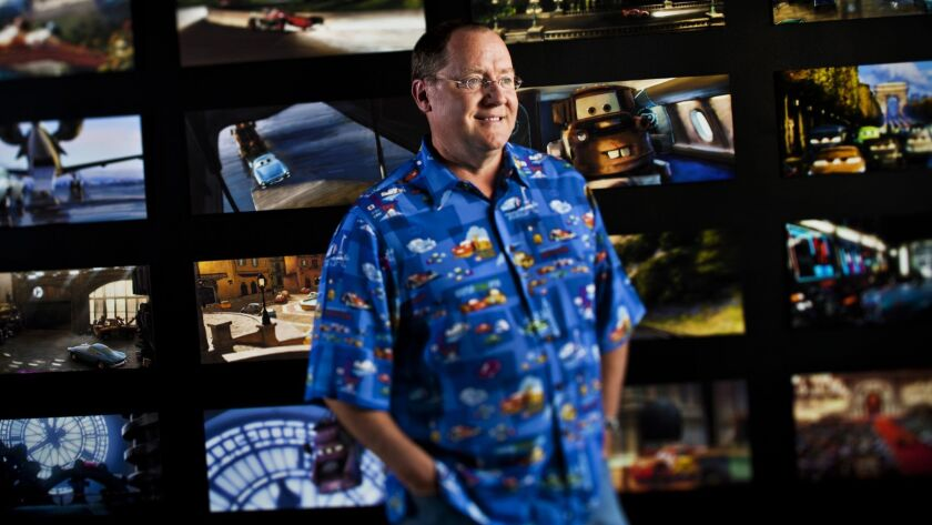 John Lasseter photographed at Pixar headquarters in Emeryville, Calif., in 2011.