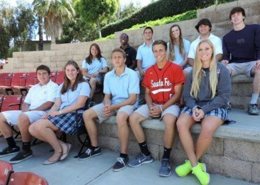 Front row, left to right: Darrian Borboa, Grace Dwyer, Bennett Royce, Chase Bushor, Madylyn Tschantz. Back row, left to right: Elyssa Reyes, Jerry Harper, Cole Needham, Hannah Mathiesen, Tony Miro, Brian Finley.