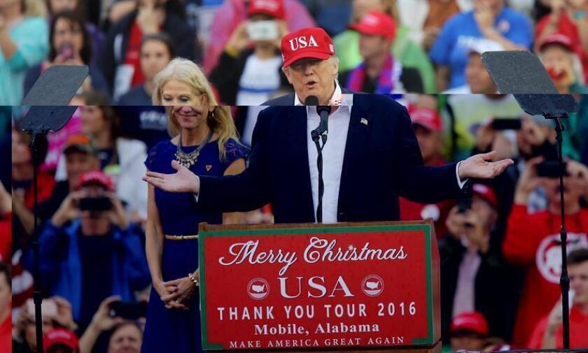 """El presidente electo de Estados Unidos, Donald Trump, deseó hoy un feliz Año Nuevo a todos los ciudadanos, incluidos sus """"muchos enemigos"""" y aquellos que perdieron la pelea contra él y ahora """"no saben qué hacer"""". EFE/ARCHIVO"""