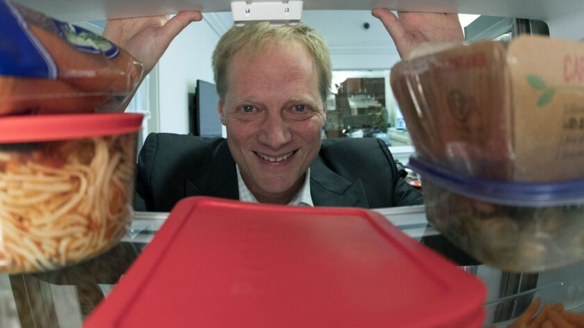 Brian Wansink poses for a photo in a food lab at Cornell University in Ithaca, N.Y. on Dec. 6, 2016.