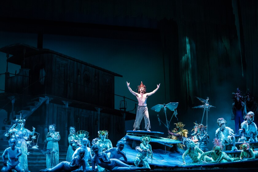"""A scene from Daniel Catan's magical realism-infused Spanish-language opera """"Florencia en el Amazonas,"""" which was presented during San Diego Opera's 2017-2018 season."""