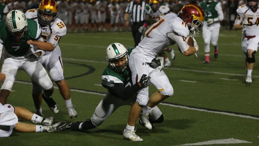 Torrey Pines running back Sully O'Brien had 17 carries for 103 yards and one TD.
