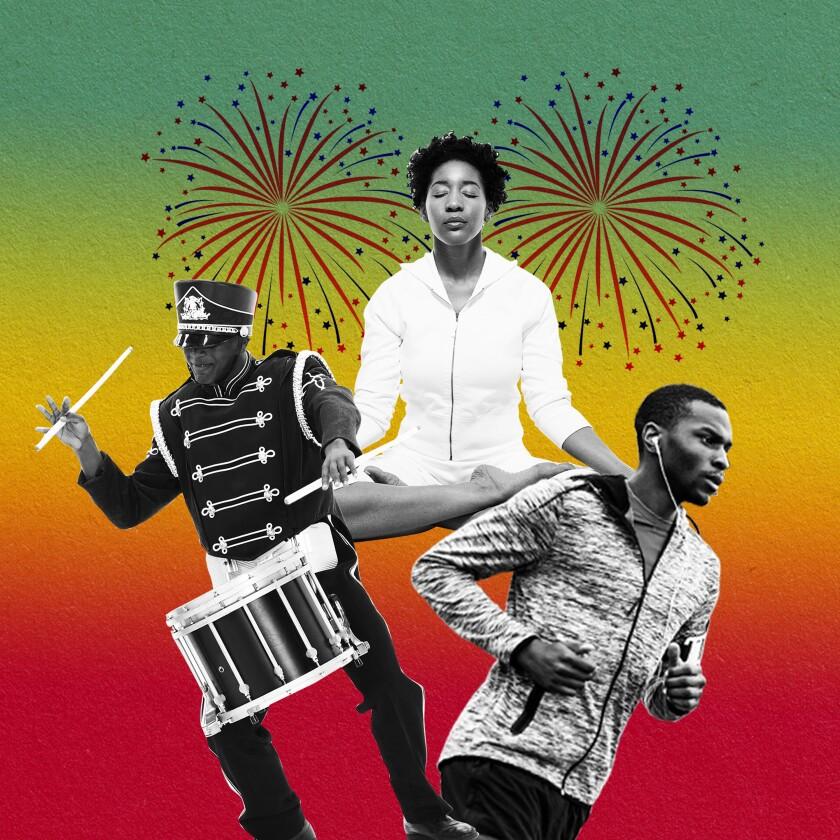Photo illustration of Juneteenth celebrations.