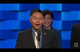 Rep. Ted Lieu of California speaks at the Democratic National Convention