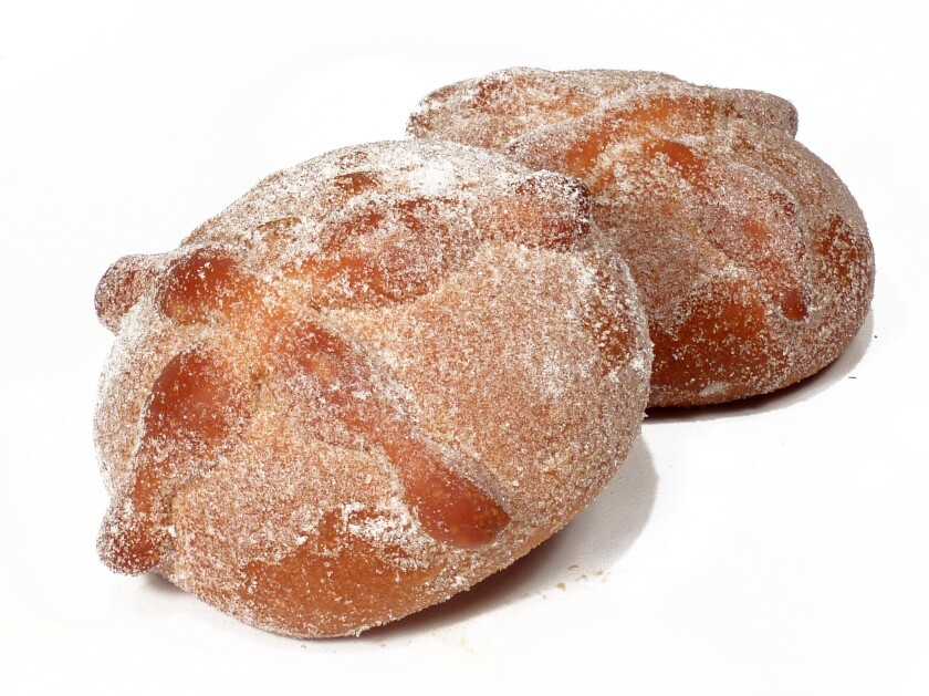 Pan de muerto is time-intensive to make from scratch. Buying at a panaderia is much simpler.