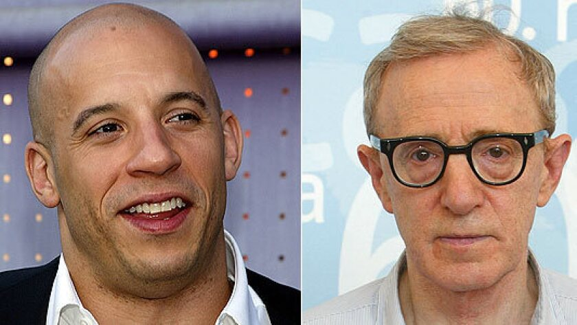 """Vin Diesel, mostly an Academy outsider, is a member; while Woody Allen, whose """"Midnight in Paris"""" is nominated this year, is not among the organization's members."""