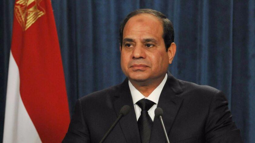 Egyptian President Abdel-Fattah Sissi
