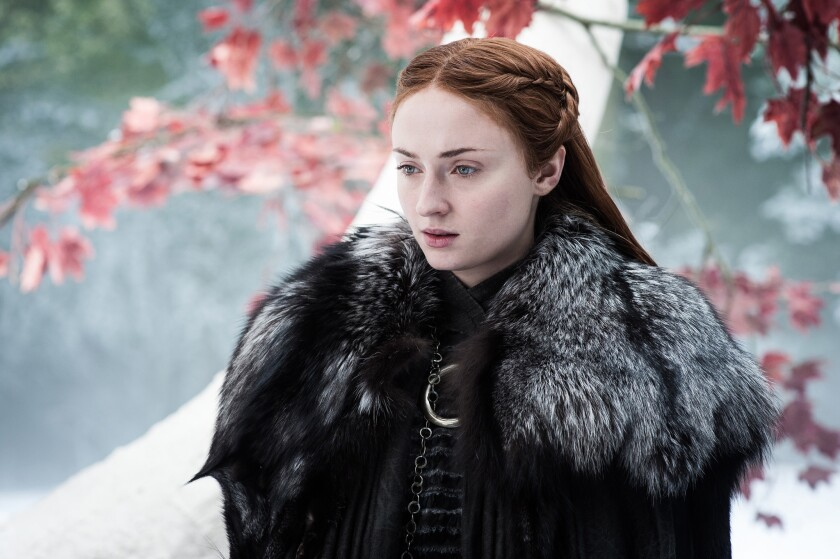 "Sophie Turner as Sansa Stark in ""Game of Thrones,"" Season 7."