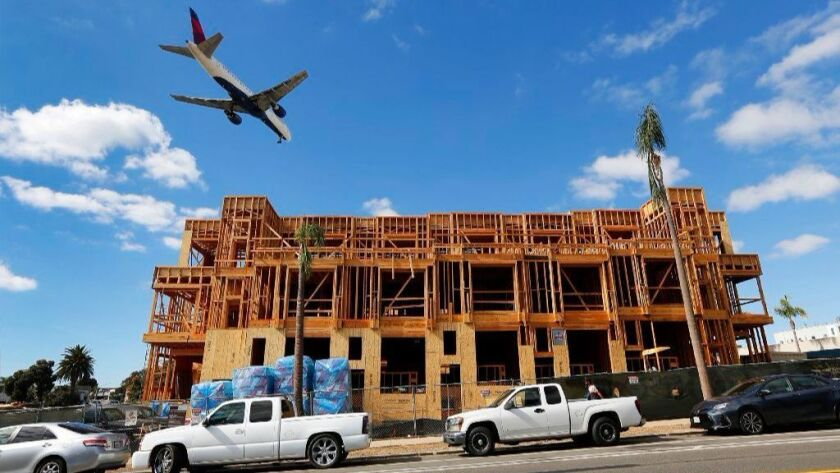 Construction is shown at a CityMark Development of 21 townhomes located on Bankers Hill near Balboa Park on Thursday, Nov. 9, 2017.  (Photo by K.C. Alfred/The San Diego Union-Tribune)