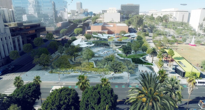An aerial view of the proposed 2-acre FAB Park.