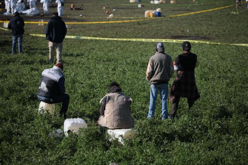 El número de fallecidos por la explosión de una toma clandestina de hidrocarburo en Tlahuelilpan, en el estado mexicano de Hidalgo, ascendió a 119, informó este jueves el Gobierno mexicano. EFE/Archivo