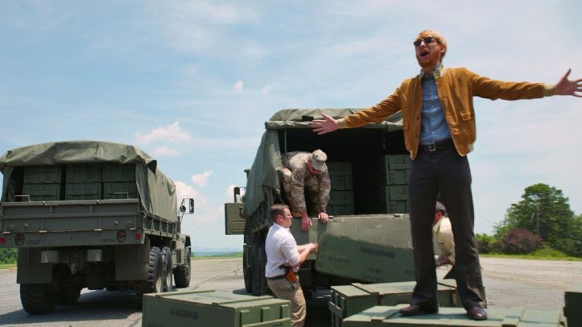 "Domhnall Gleeson as Monty Schafer in Universal Pictures' ""American Made."""