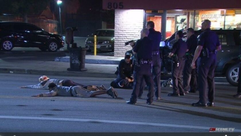 Five arrested after undercover officer is shot in the face