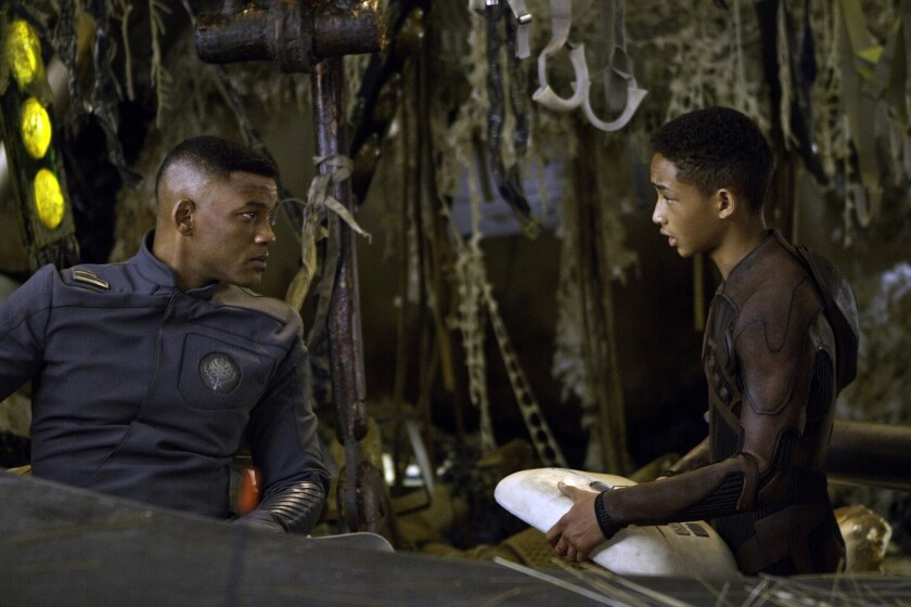 """Will Smith and his 14-year-old son, Jaden, star in the sci-fi action-adventure film """"After Earth."""""""