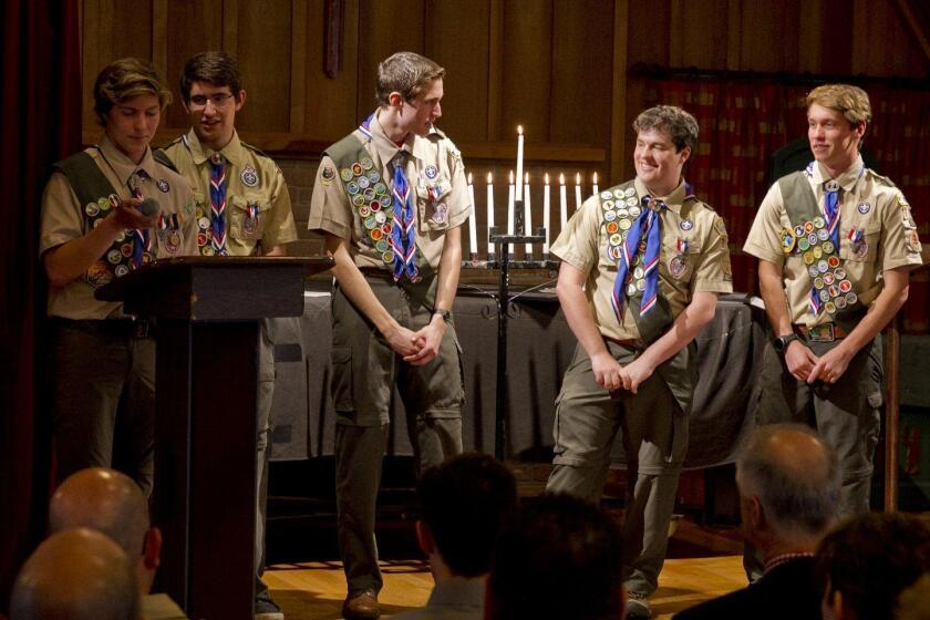 Eagle Scouts: Christopher Shopes, Matthew Elwell, Nicholas Moglia, Jimmy Neil, Jon Shopes