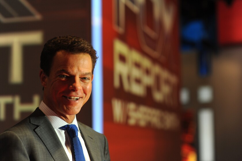 Fox anchor Shepard Smith is seen in his studio at Fox News in Manhattan.