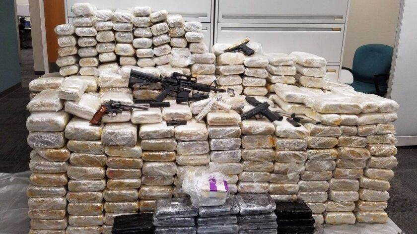 Federal authorities seized cannabis, cocaine and methamphetamine Aug. 9, 2017, from a National City self-storage facility