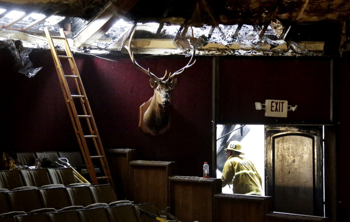 The Elks Lodge in San Pedro nearly burned to the ground early Tuesday morning after a fire started sometime in the middle of the night -- the second blaze on the property this week.