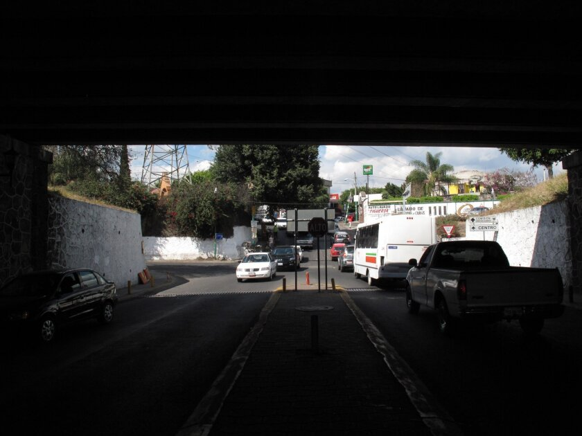 Four decapitated bodies were found strung from the the Tabachines bridge in Cuernavaca in August 2010 amid a local turf war between rival drug gangs. San Diego native Edgar Jimenez Lugo, 14, is being investigated for his possible participation in the killings.