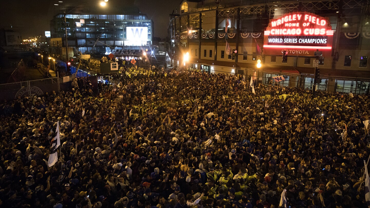 Cubs fans celebrate World Series win
