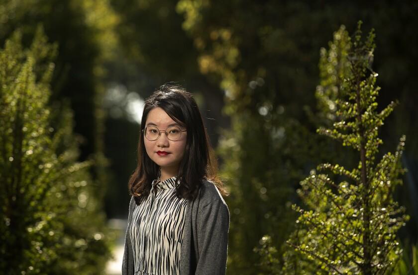 Xinlu Liang, 22, a Chinese grad student