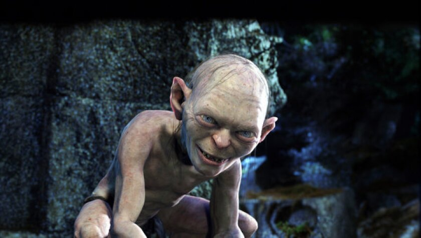 """The ring-obsessed Gollum as seen in Peter Jackson's film """"The Lord of the Rings: The Two Towers."""""""