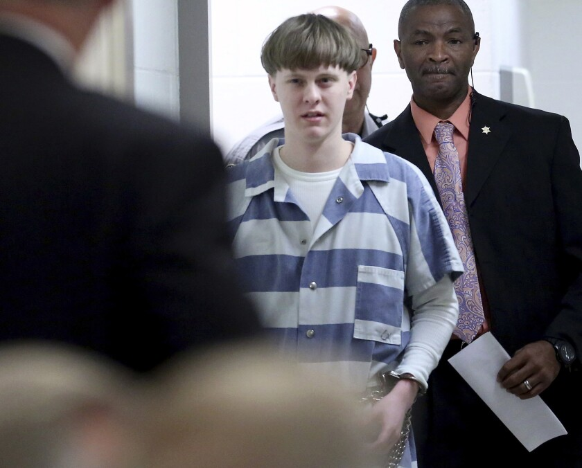 Convicted murderer Dylann Roof