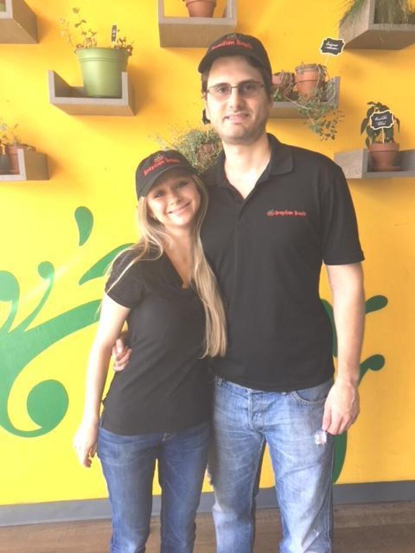 Brazilian Bowls owners Rafaela Goldman and Luis Yared