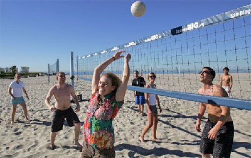 Enjoy volleyball and you could earn a crown at the same time. (Sean M. Haffey / Union-Tribune)