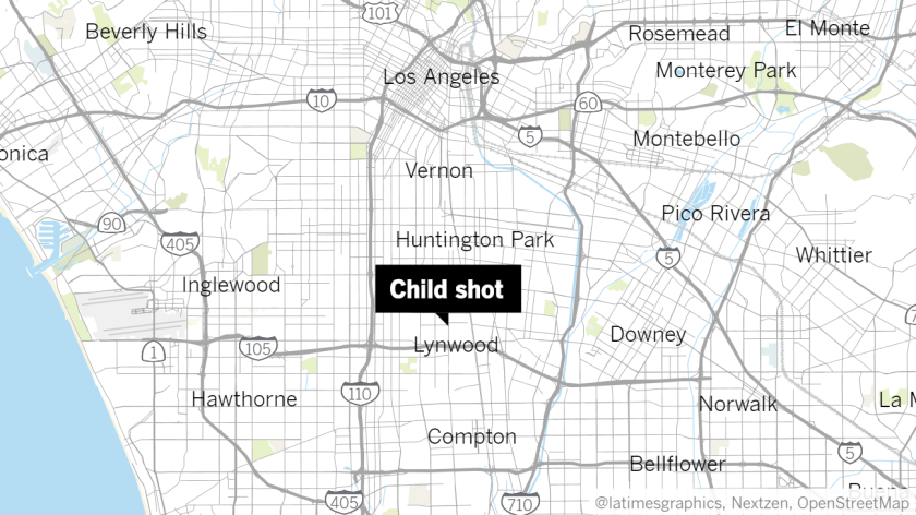 Child shot in South L.A.