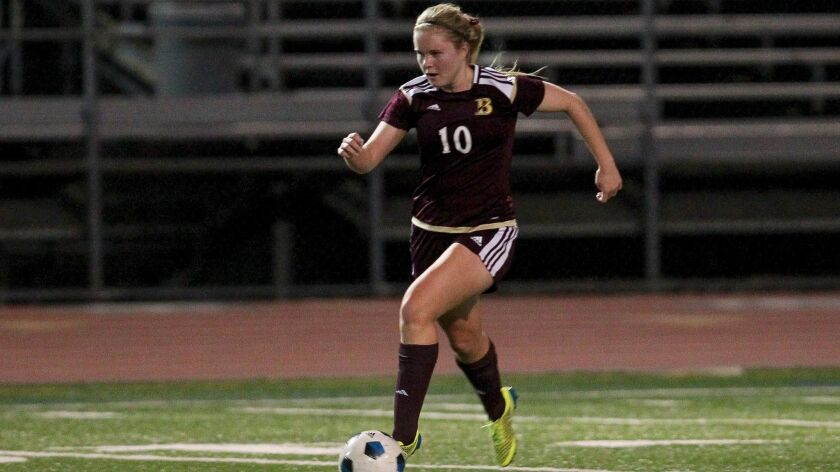 Lucy Rickerson, shown playing for Bishop's