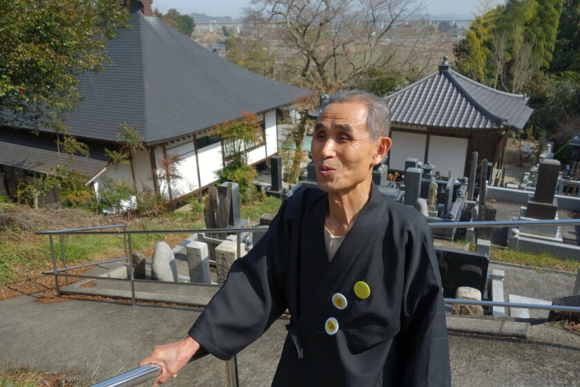 Tokuo Hayawaka, a longtime anti-nuclear activist and Buddhist priest in the town of Naraha, Japan, says the number of the dead in the town may now outnumber the living.