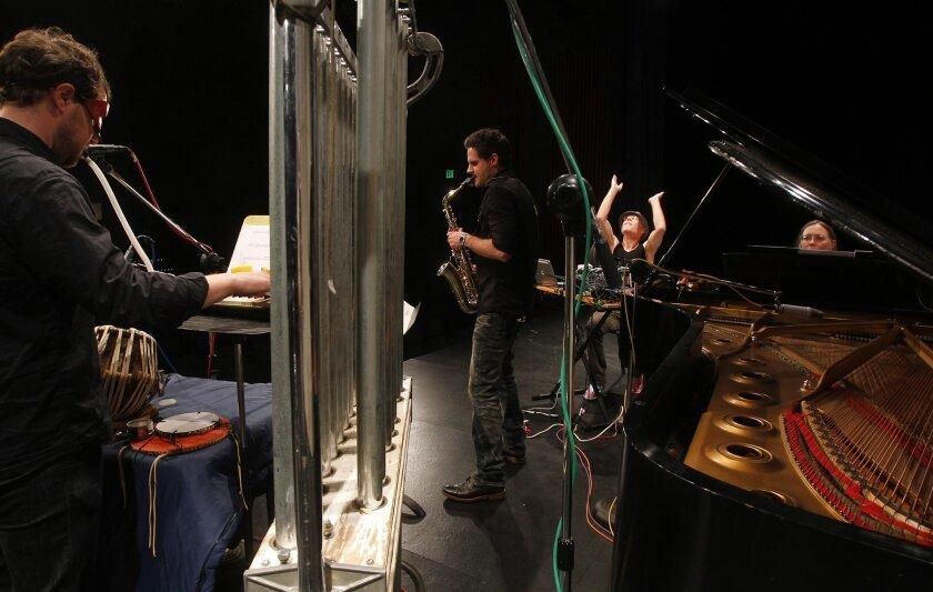 SWARMIUS rehearses San Diego State University. Eduardo Contreras • U-T