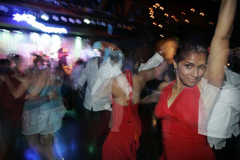 Salsa dancers at L.A.'s Conga Room in 2006.