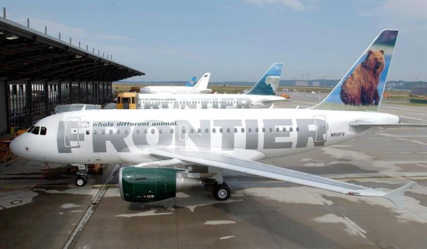 La aerolínea Frontier Airlines comenzó hoy a operar su nueva ruta aérea entre el aeropuerto de Carolina del Norte de Raleigh-Durham y San Juan con dos vuelos semanales los días miércoles y sábado.EFE/EPA/ARCHIVO
