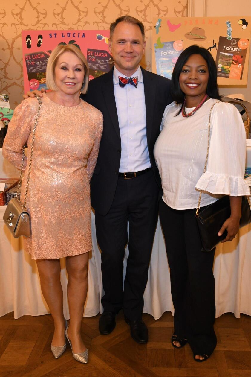 Symphony Notables founder Joyce Glazer, symphony vice-president for institutional advancement Todd Schultz, Crystal Sargent