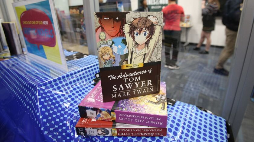 The Adventures of Tom Sawyer, in a graphic novel, at the first annual Fan Con at Laguna Beach High