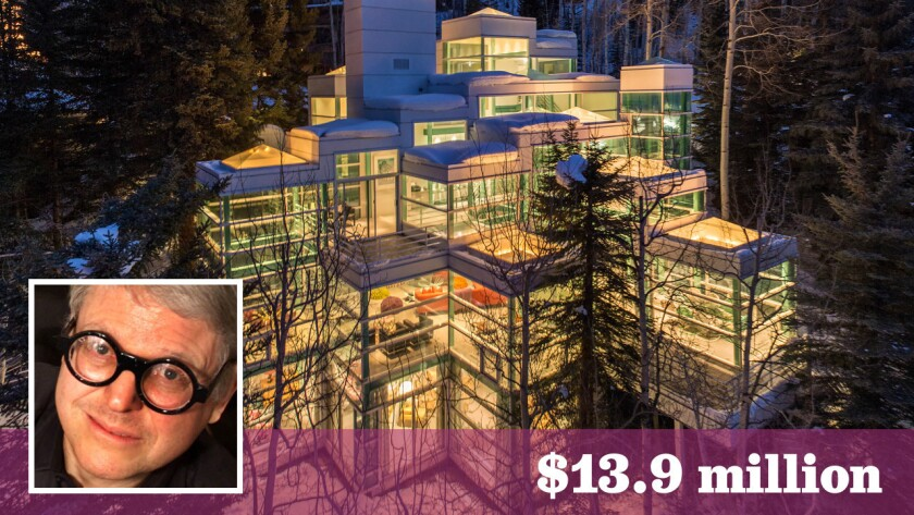 Financier Michael Tennenbaum has put his glass house in Vail, Colo., up for sale at $13.9 million.