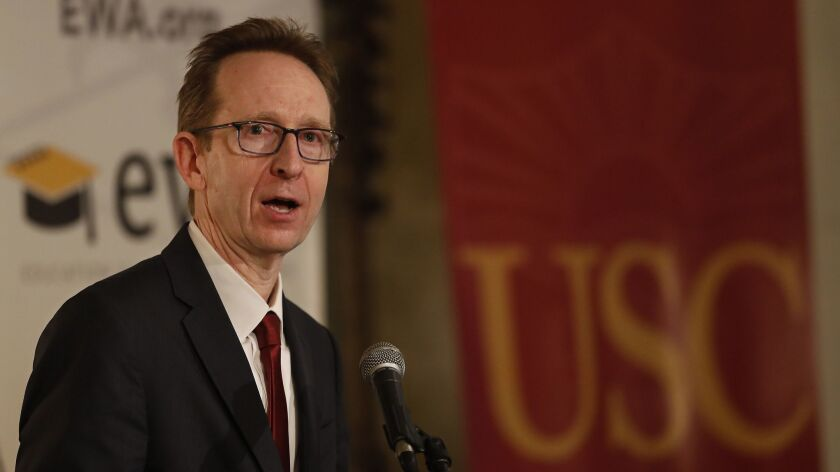 LOS ANGELES, CA-MAY 16, 2018: USC Provost Dr. Michael Quick, who oversees the Keck School of Medici