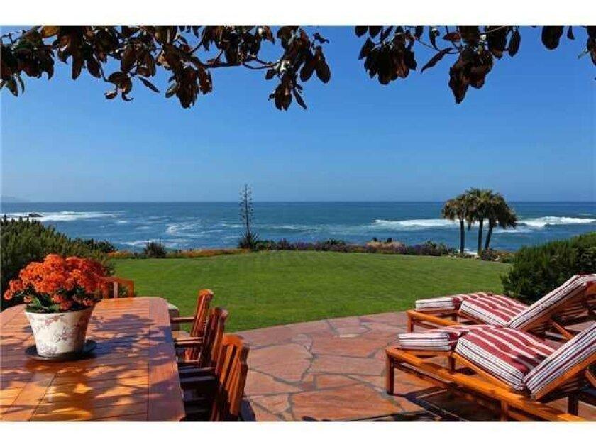 View from the yard at 5960 Camino de la Costa. Photo: Courtesy