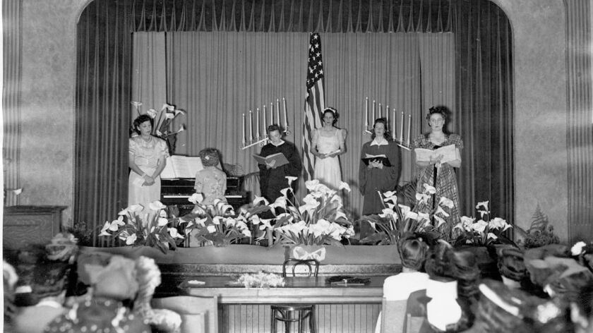 With a stage and excellent acoustics, the main hall at Hornblend (pictured here circa 1940s or '50s)