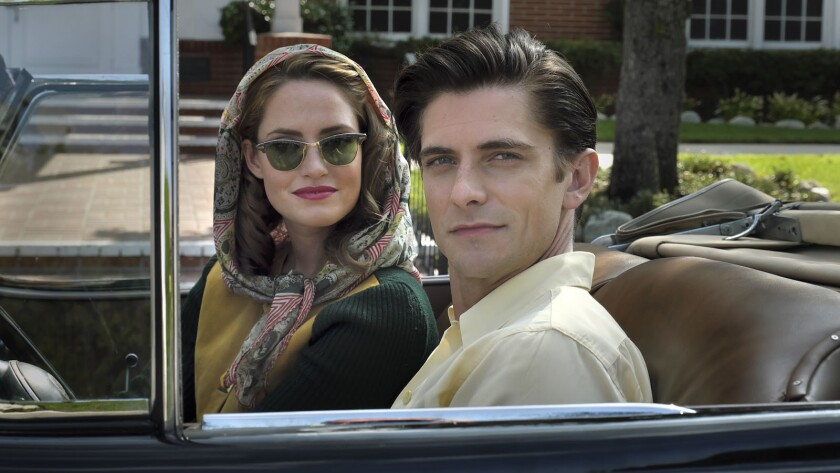 "Merritt Patterson and Samuel Hunt in the film, ""Unbroken: Path to Redemption."" Credit: Pure Flix Ent"