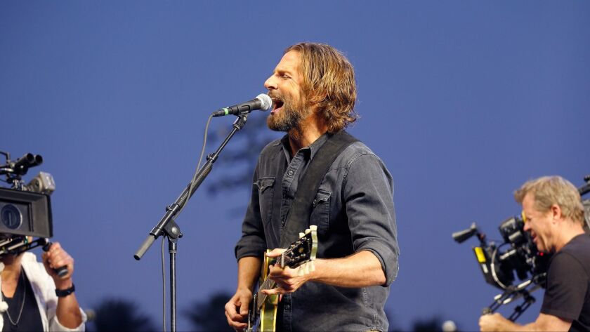 """Director-writer-actor Bradley Cooper and his crew film a shot intended for his forthcoming remake of """"A Star Is Born"""" while at Stagecoach."""