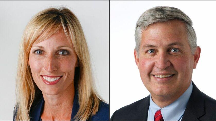Mayor Kristin Gaspar and Supervisor Dave Roberts.