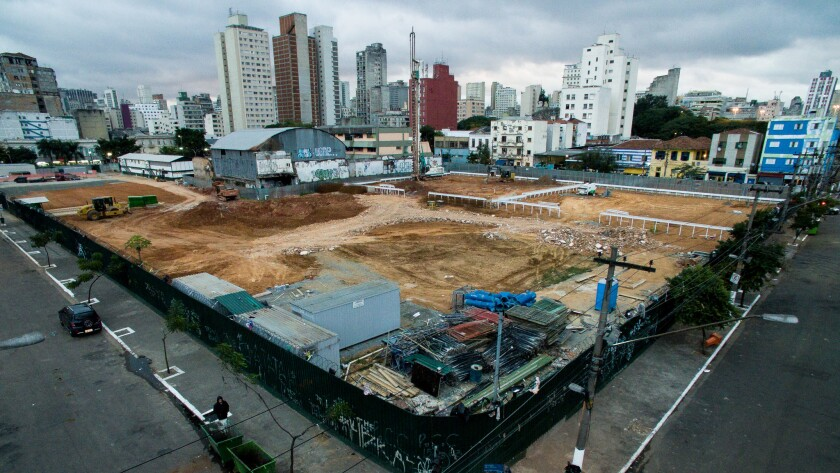 The downtown Sao Paulo neighborhood of Nova Luz, better known as Cracolandia, after an operation las