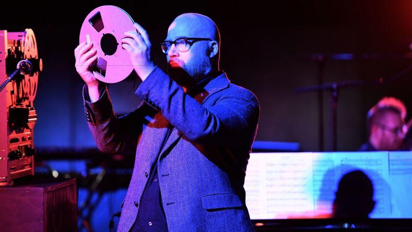 Jóhann Jóhannsson performs Monday night at Walt Disney Concert Hall as part of the Los Angeles Philharmonic's Reykjavik Festival.